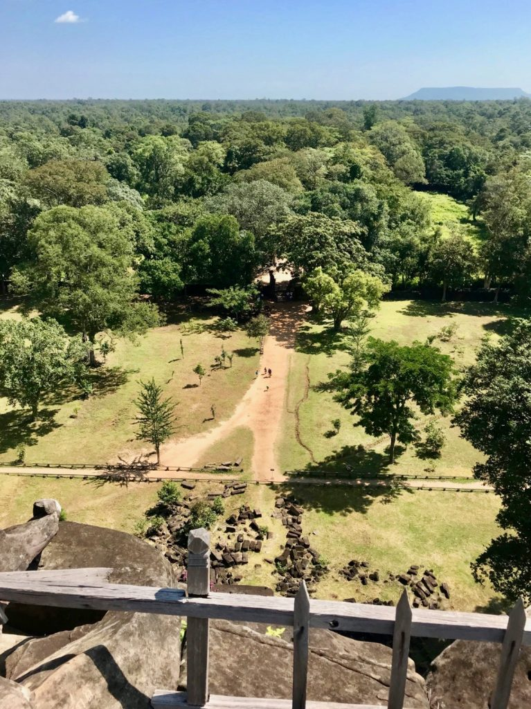 Cambo Challenge view from Koh Ker temple pyramid