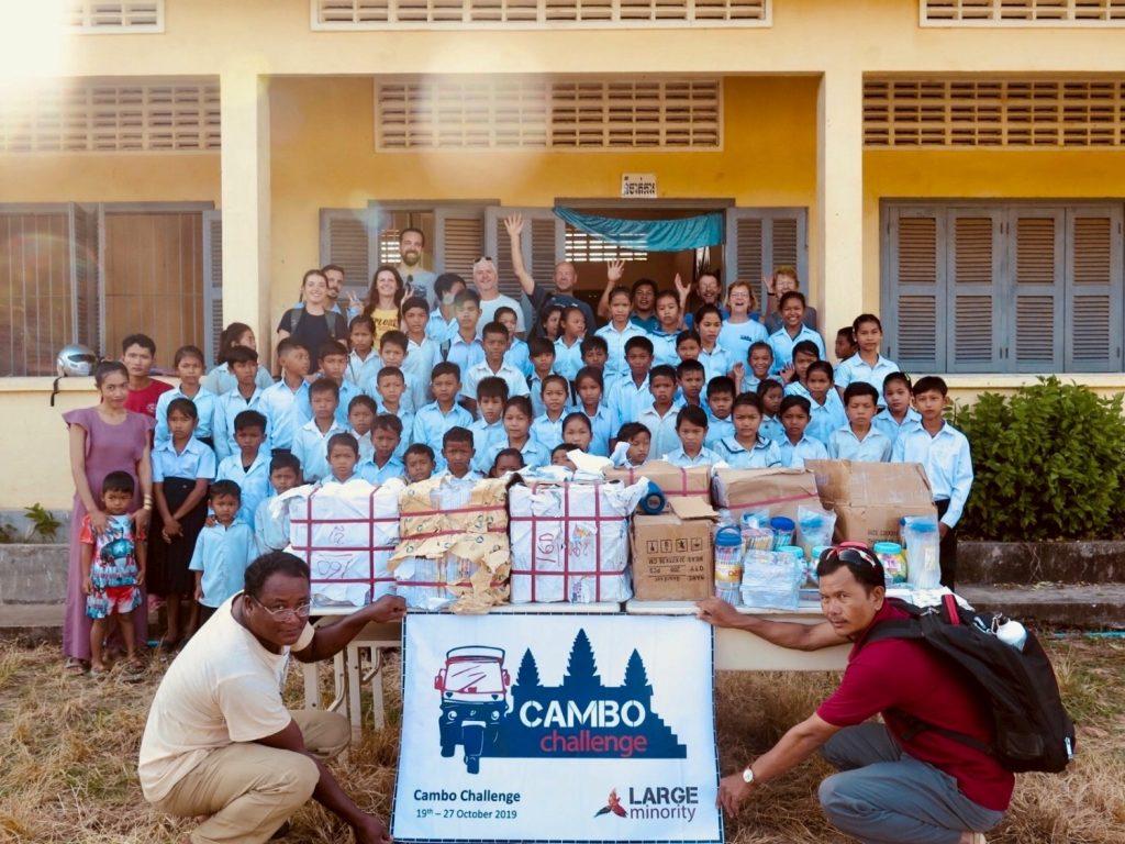 Cambo Challenge Preah Romkel community school donation