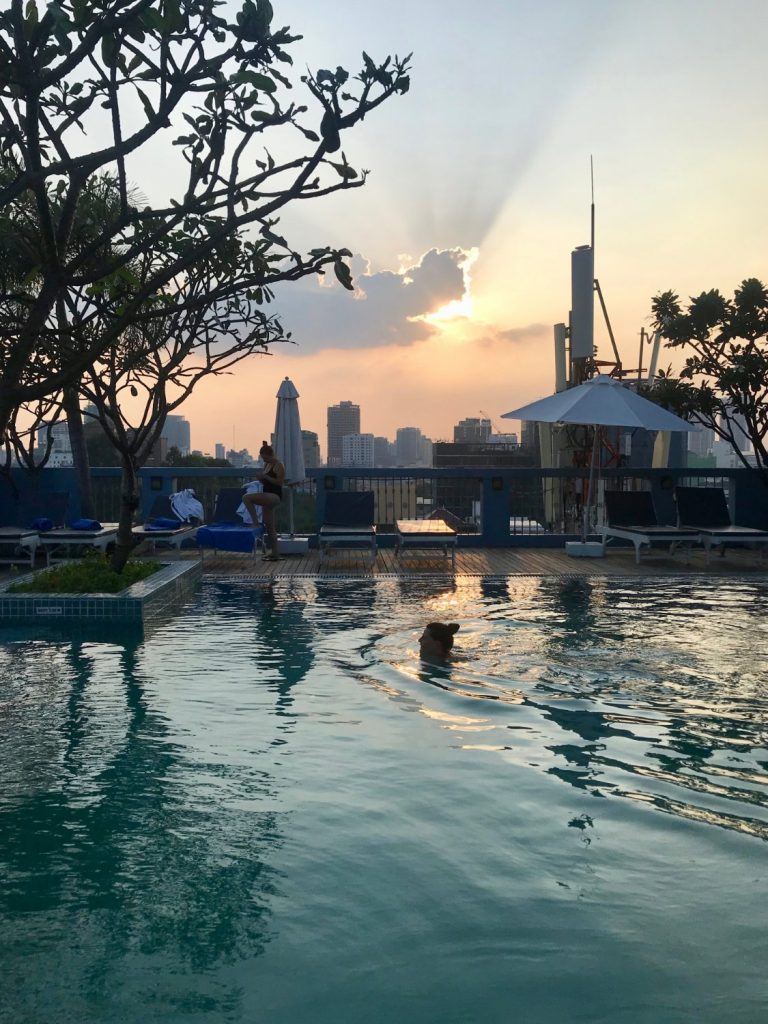 Cambo Challenge last evening rooftop pool