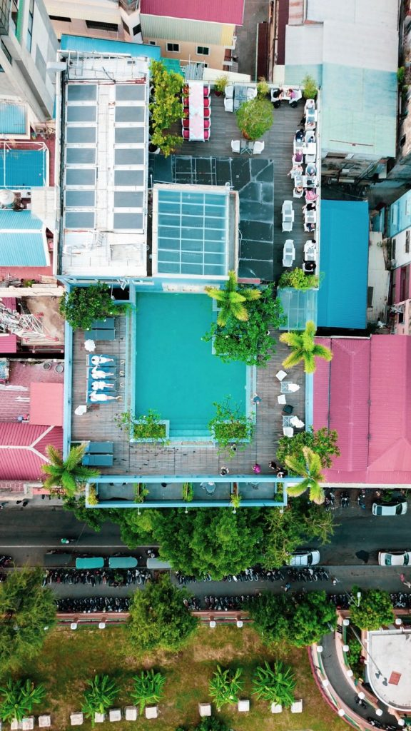 Cambo Challenge Phnom Penh Hotel Rooftop Drone Selfie