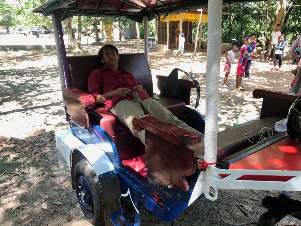 Cambo Challenge sleeping tuktuk driver